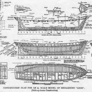 Brigantine Leon Marie Sophie ship model plans