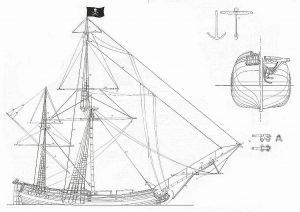 Brigantine Pirate ship model plans
