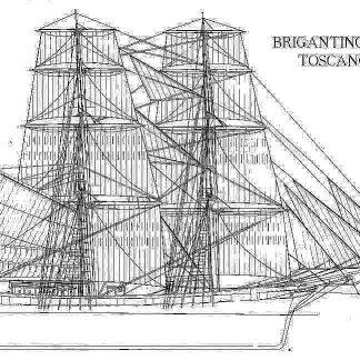 Brigantine Toscan ship model plans