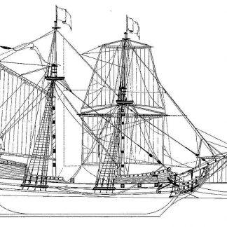 Brigantine XVIIIc ship model plans