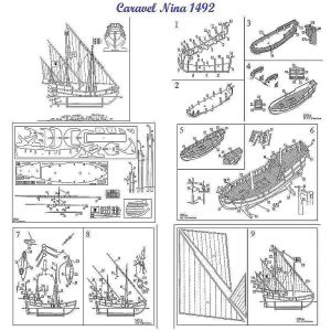 Caravel Nina 1492 ship model plans