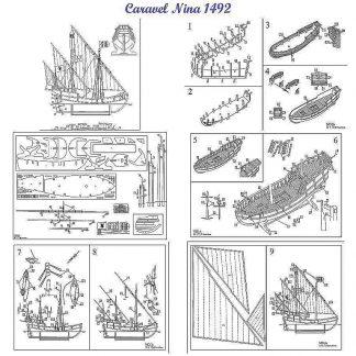 Caravel Nina 1492 ship model plans