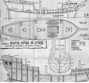 Caravel Nuestra Senora De Atocha 1620 ship model plans