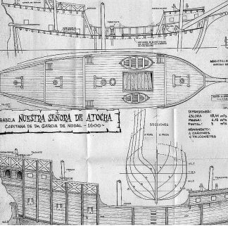 Caravel Nuestra Senora De Atocha 1620 ship model plans
