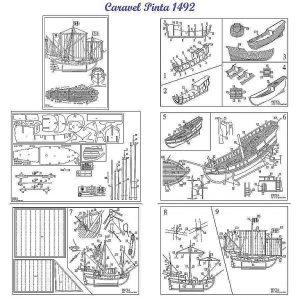 Caravel Pinta 1492 ship model plans