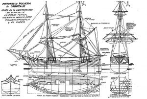 Caravel Polacre (Turkish) ship model plans