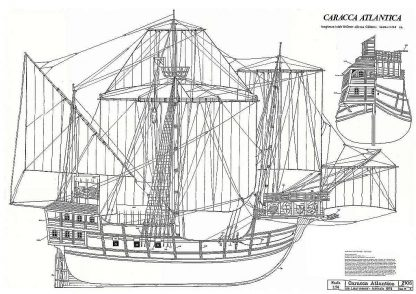 Carrack Atlantic Miguel 1519 ship model plans