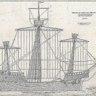 Carrack Holk ship model plans
