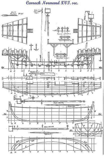 Carrack Normand ship model plans