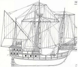 Carrack Sao Miguel XVIc ship model plans