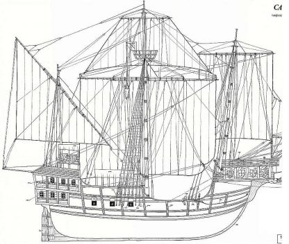 Carrack Sao Miguel XVIc ship model plans