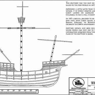 Carrack The Matthew 1497 ship model plans