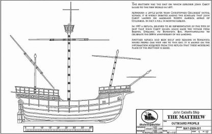 Carrack The Matthew 1497 ship model plans