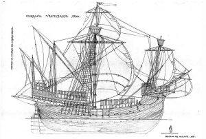 Carrack (Venetian) 1500 ship model plans