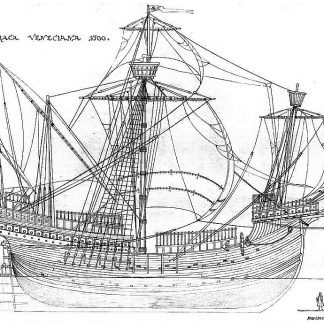 Carrack (Venetian) 1500 ship model plans