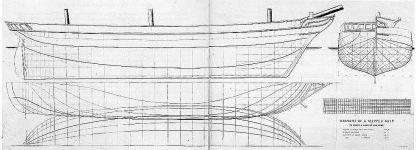 Clipper 1860 500 Tons ship model plans