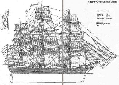 Clipper Alt Mecklenburg 1856 ship model plans