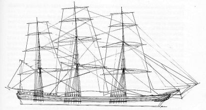 Clipper Cairngorm 1853 ship model plans