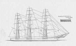 Clipper Comet 1851 ship model plans