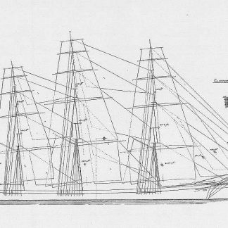 Clipper Comet 1851 ship model plans