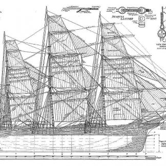 Clipper (English Tea) Foochow XIXc ship model plans