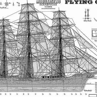 Clipper Flying Cloud 1851 ship model plans