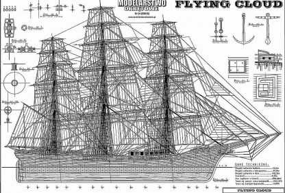Clipper Flying Cloud 1851 ship model plans