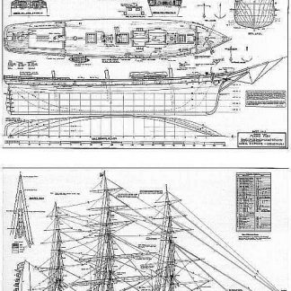 Clipper Flying Fish 1851 ship model plans