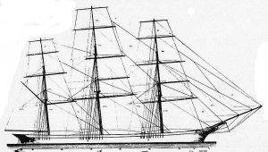 Clipper Leander 1867 ship model plans