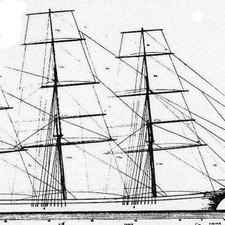 Clipper Leander 1867 ship model plans