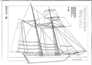 Clipper Lynx 1812 ship model plans
