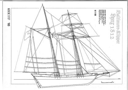 Clipper Lynx 1812 ship model plans