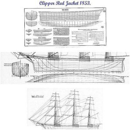 Clipper Red Jacket 1853 ship model plans