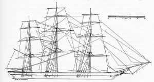 Clipper Reindeer 1848 ship model plans