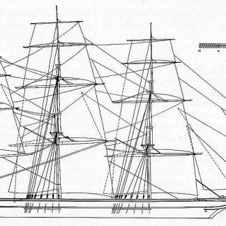 Clipper Reindeer 1848 ship model plans