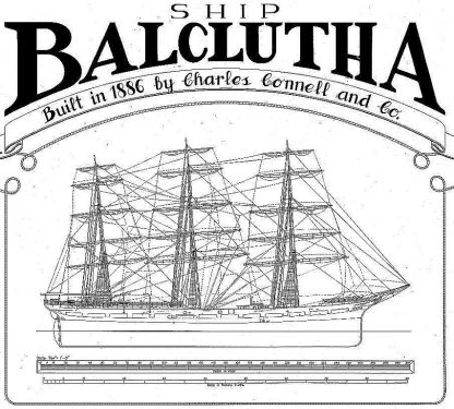Clipper-Schooner Balclutha - Baltimore ship model plans