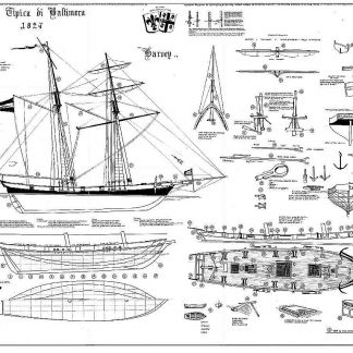 Clipper Schooner Harvey 1848 Baltimore ship model plans
