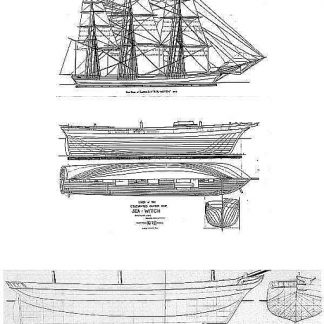 Clipper Sea Witch 1846 ship model plans