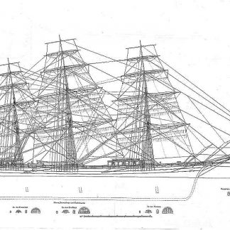 Clipper Sovereign Of The Seas 1853 ship model plans