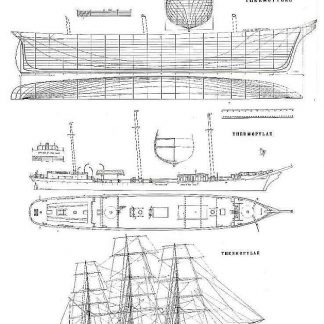 Clipper Thermopylae 1868 ship model plans