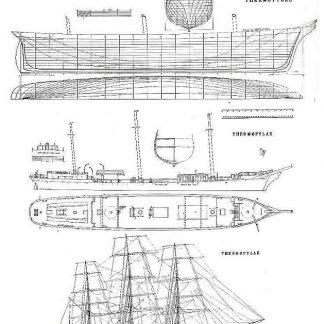 Clipper Thermopylae 1868 ship model plans