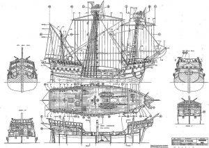 Cocca Anseatica XVc ship model plans