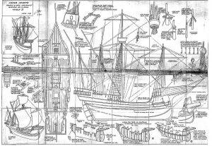 Cocca (Venetian) XVIc ship model plans