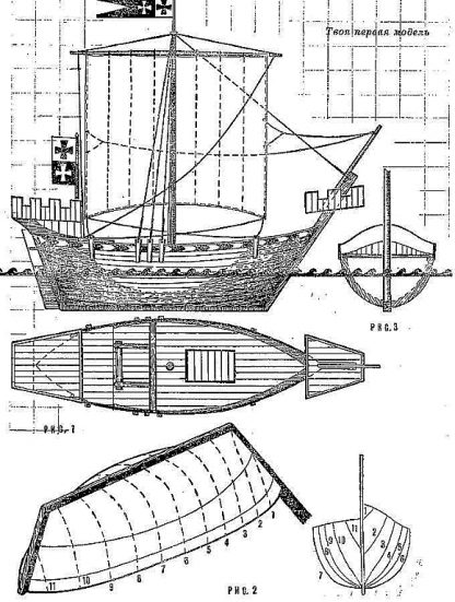Cog (Danzig) XIIIc ship model plans