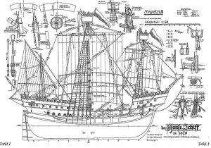 Cog (Hansa) 1470 ship model plans