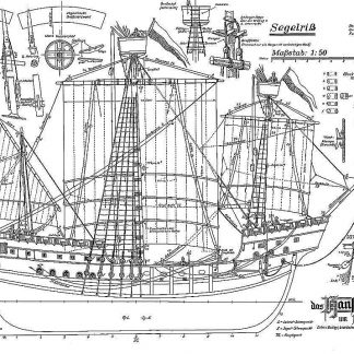 Cog (Hansa) 1470 ship model plans
