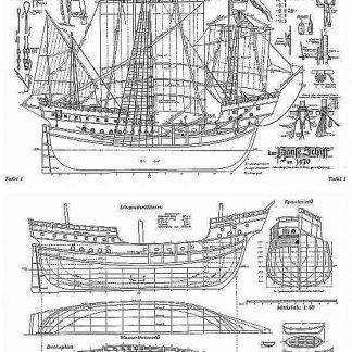 Cog Hanse 1470 ship model plans