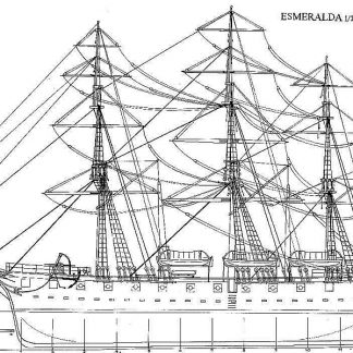 Corvette Esmeralda 1854 ship model plans