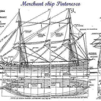 Corvette Merchant Pintoresco ship model plans