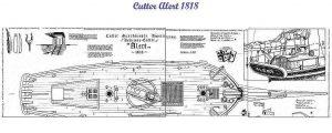 Cutter Alert 1777 ship model plans